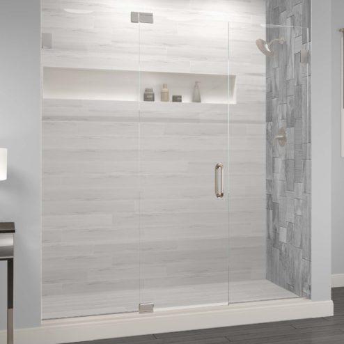 Celesta Frameless 3/8-inch Glass Panel, Swing Door, & Panel Shower Door