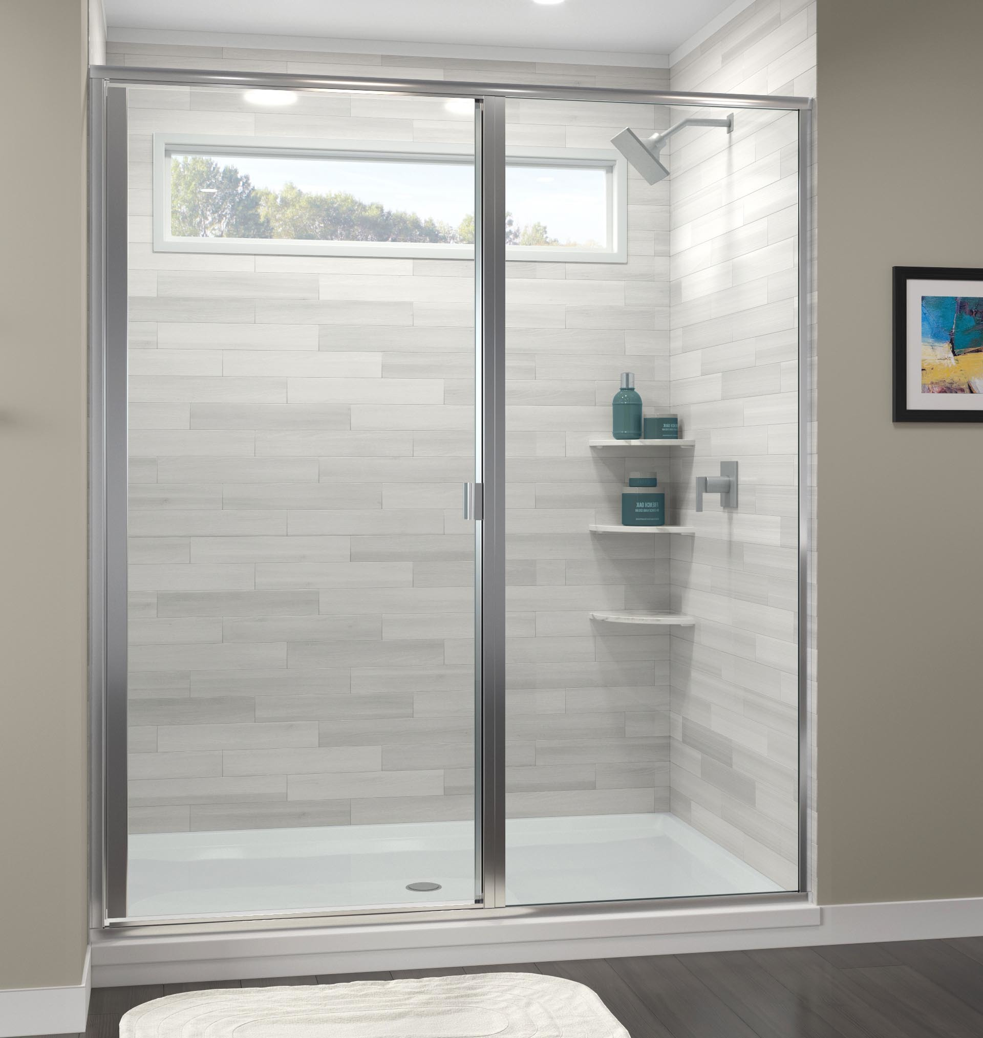 Classic Semi Frameless 316 Inch Glass Swing Door Basco Shower Doors