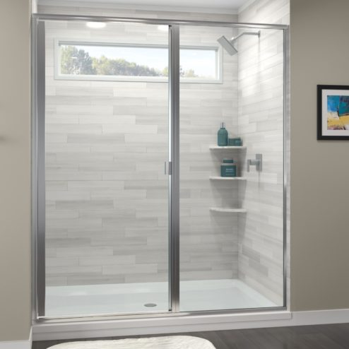 Classic Semi-Frameless 3/16-inch Glass Swing Door & Panel Shower Door