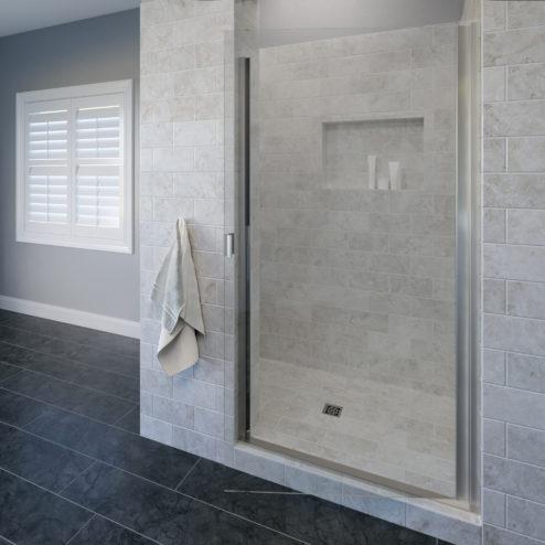 Classic Semi-Frameless 3/16-inch Glass Swing Shower Door