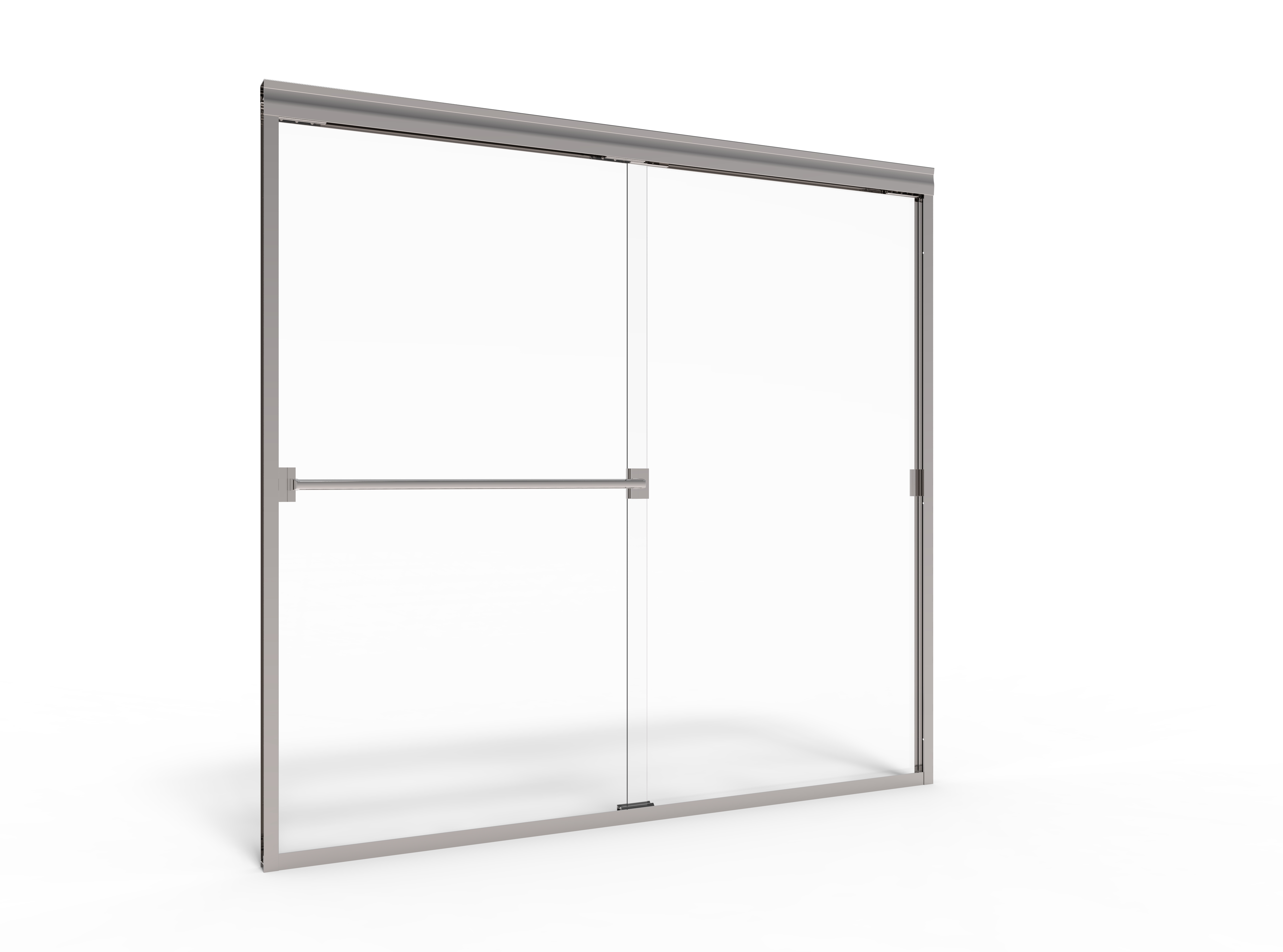 Classic semi frameless 316 inch glass sliding basco shower doors 5918 jeuxipadfo Image collections