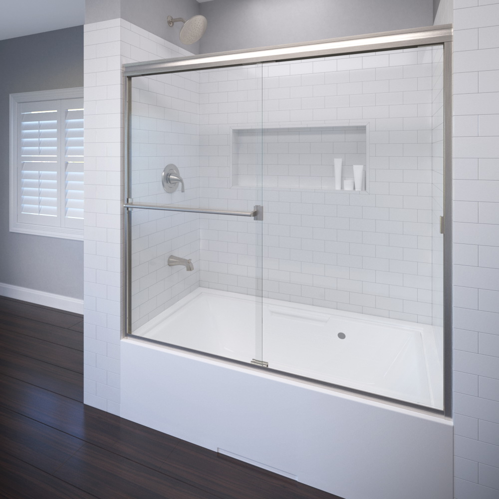 Classic Semi Frameless 316 Inch Glass Sliding Basco Shower Doors