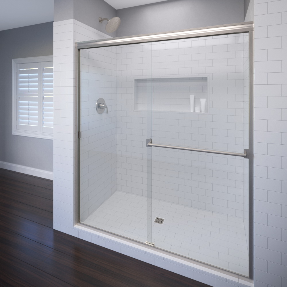 Classic Semi-Frameless 3/16-inch Glass Sliding… | Basco Shower Doors