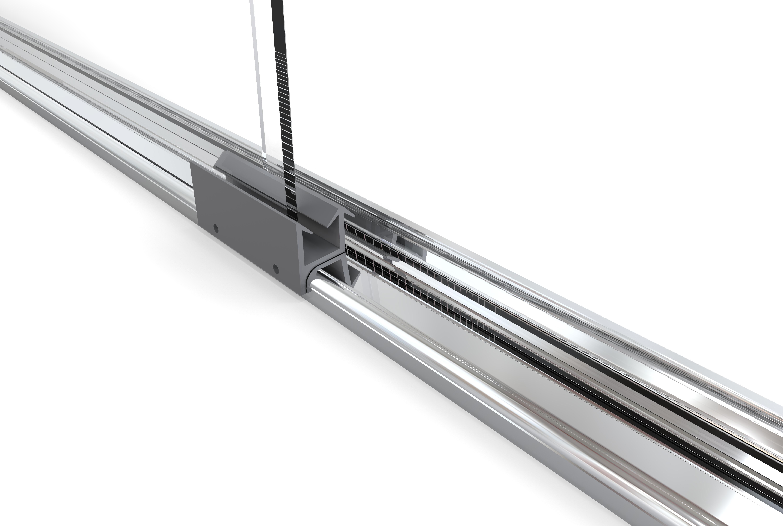 Shower sliding glass bottom guide