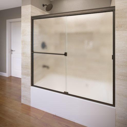 Classic Semi-Frameless 3/16-inch Glass Sliding Bathtub Door