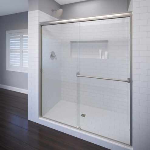 Classic Semi-Frameless 3/16-inch Glass Sliding Shower Door