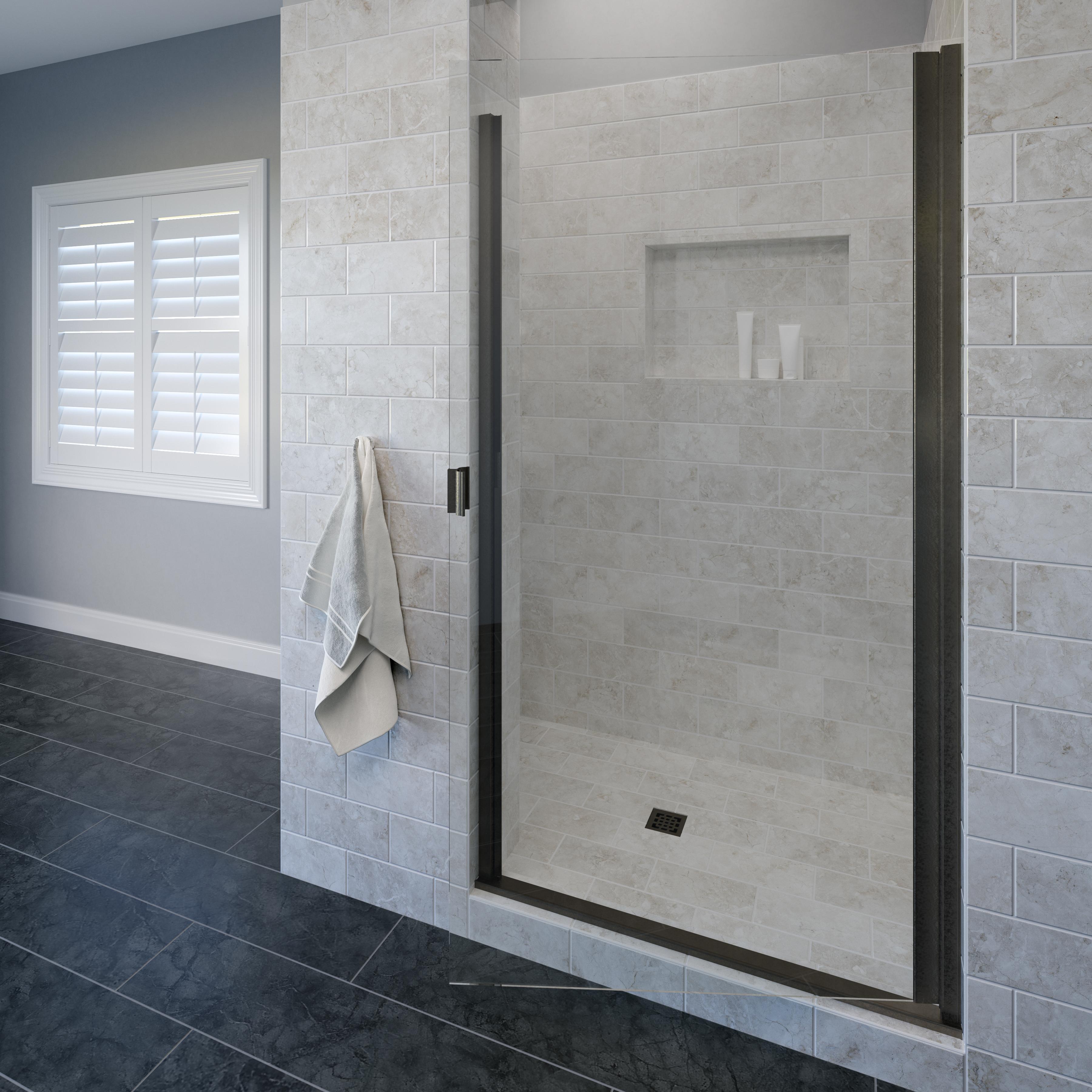 Classic Semi Frameless 3 16 Inch Glass Swing Basco Shower