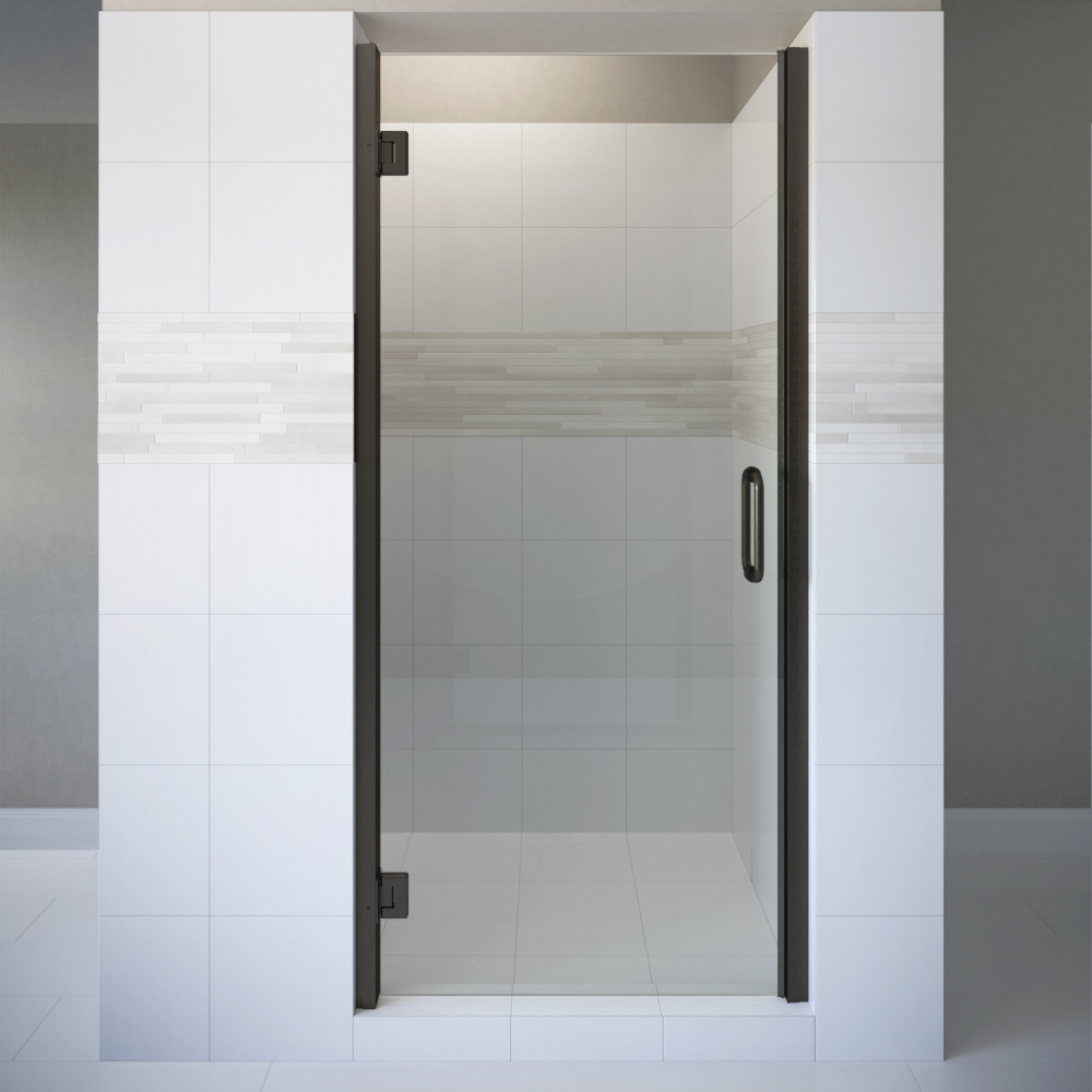 Coppia Frameless 3/8-inch Glass Swing Shower Door | Basco Shower Doors