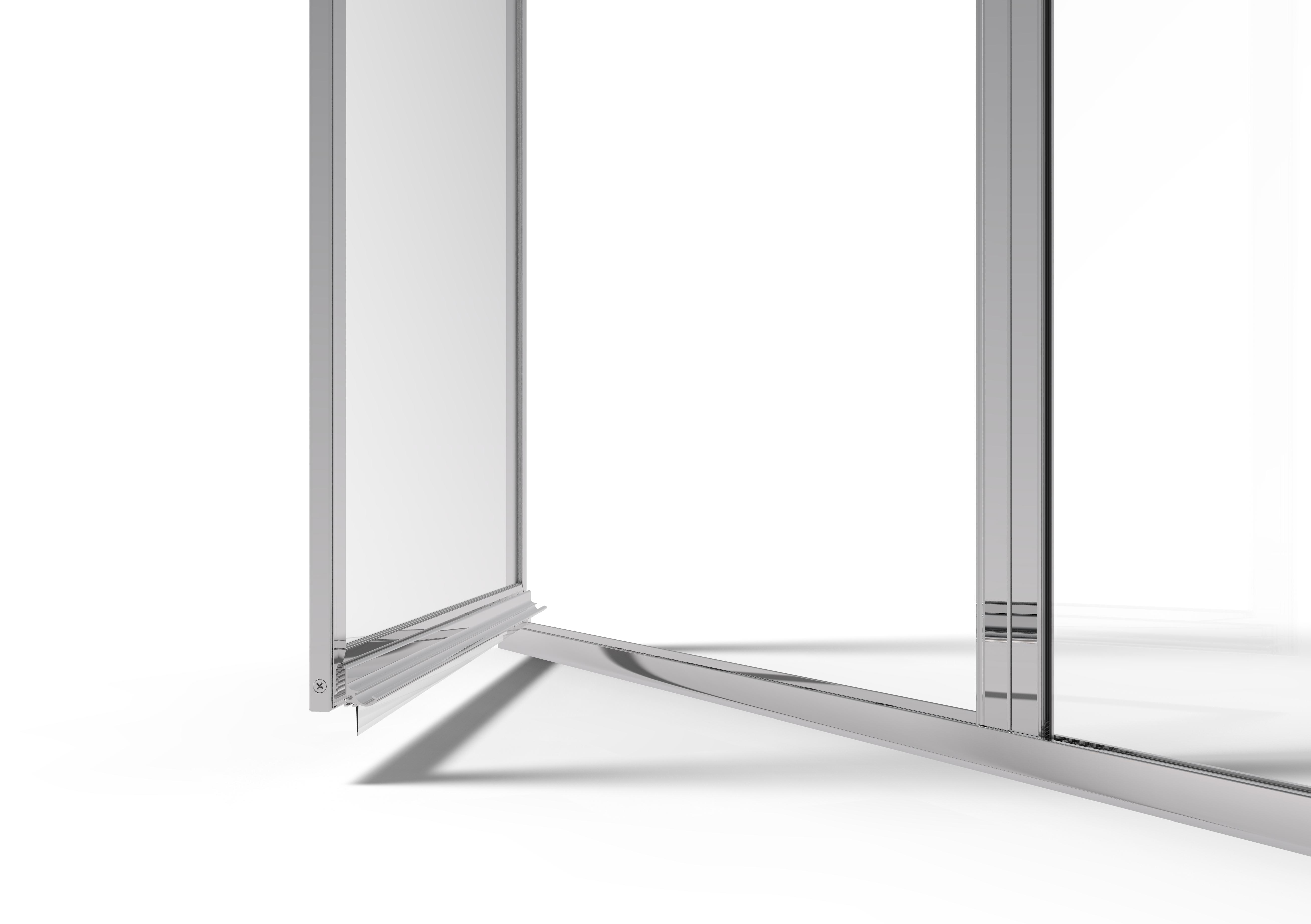 Deluxe Framed 3 16 Inch Glass Swing Door Return Basco