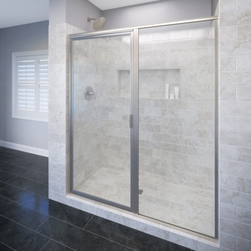 Deluxe Framed 3/16-inch Glass Swing Door & Panel Shower Door
