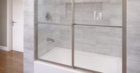 Deluxe Framed 3 16 Inch Glass Sliding Bath Tub Basco
