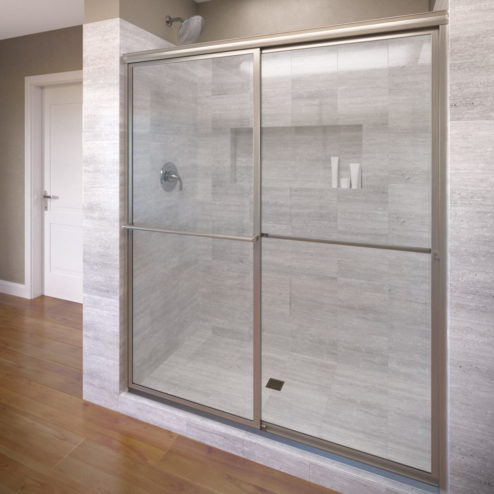 Deluxe Framed 3/16-inch Glass Sliding Shower Door