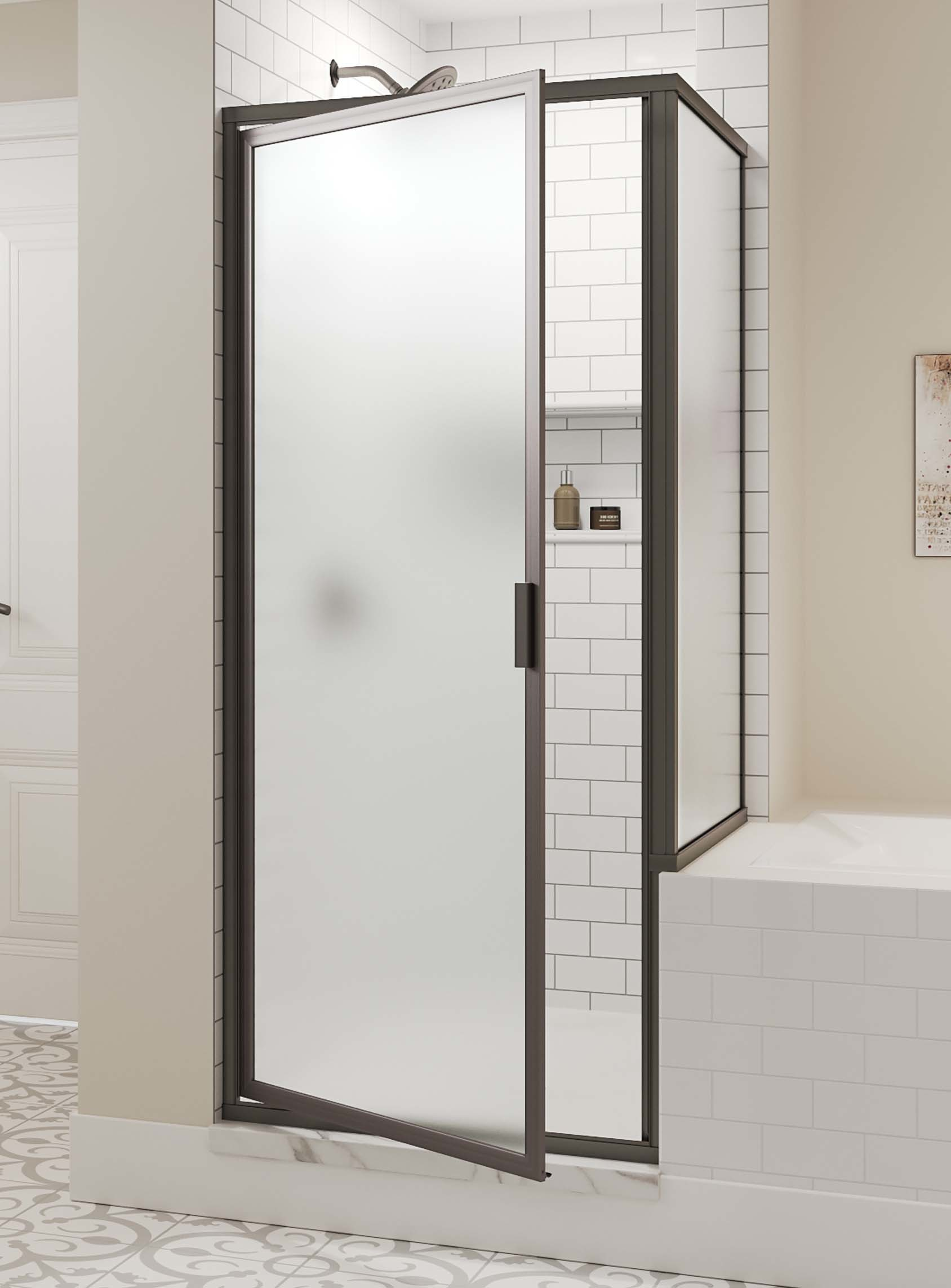 Deluxe Framed 3 16 Inch Glass Swing Door Return Basco Shower Doors