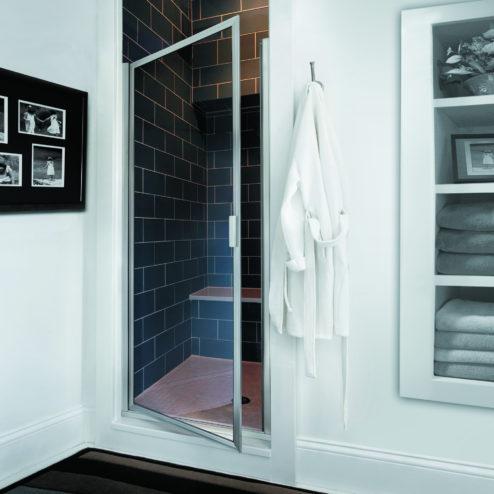 Deluxe Framed 3/16-inch Glass Swing Shower Door