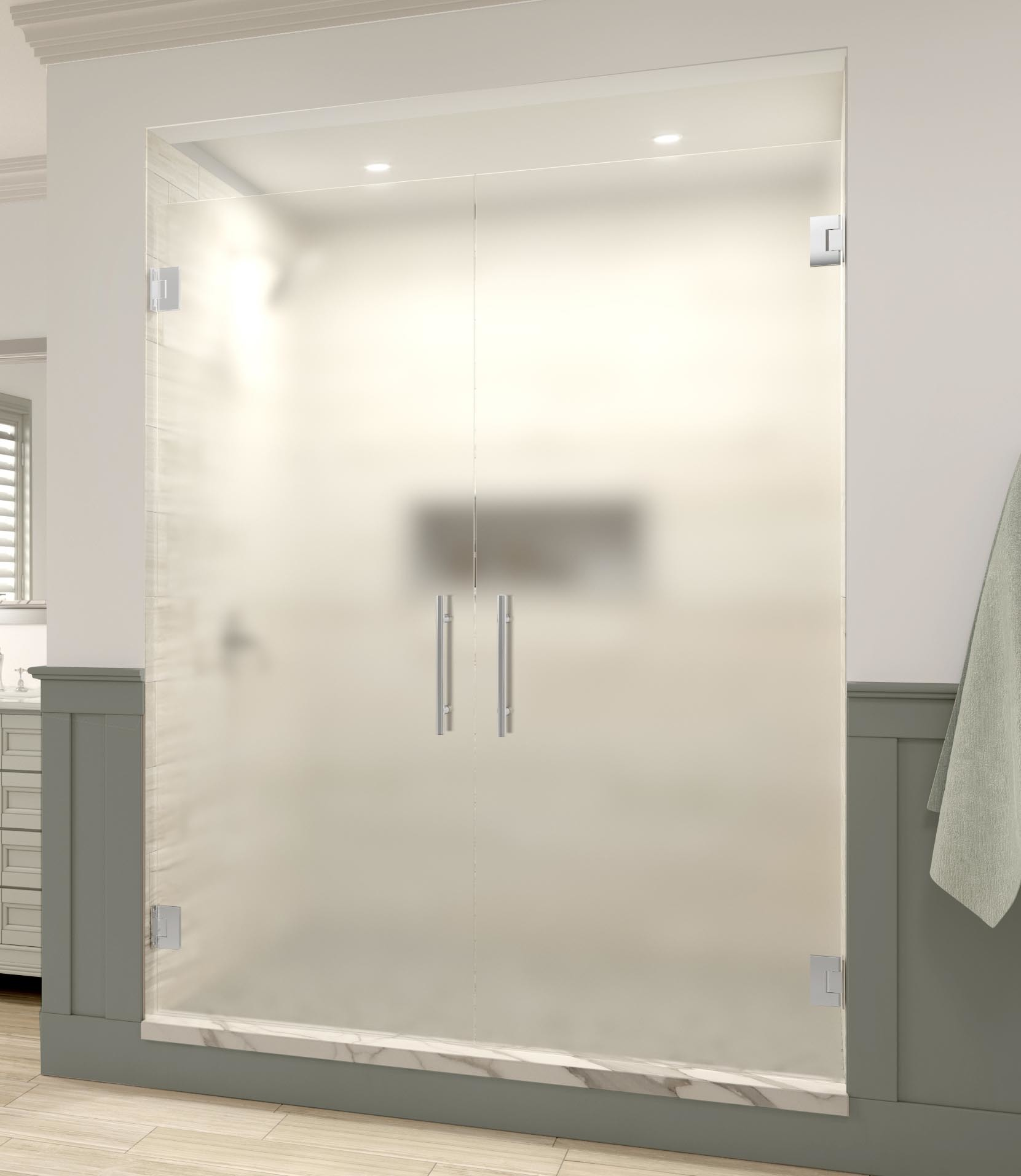 Cleaning Guide How To Clean Your Glass Shower Doors Properly: Dresden Frameless 3/8-inch Glass French Swing…