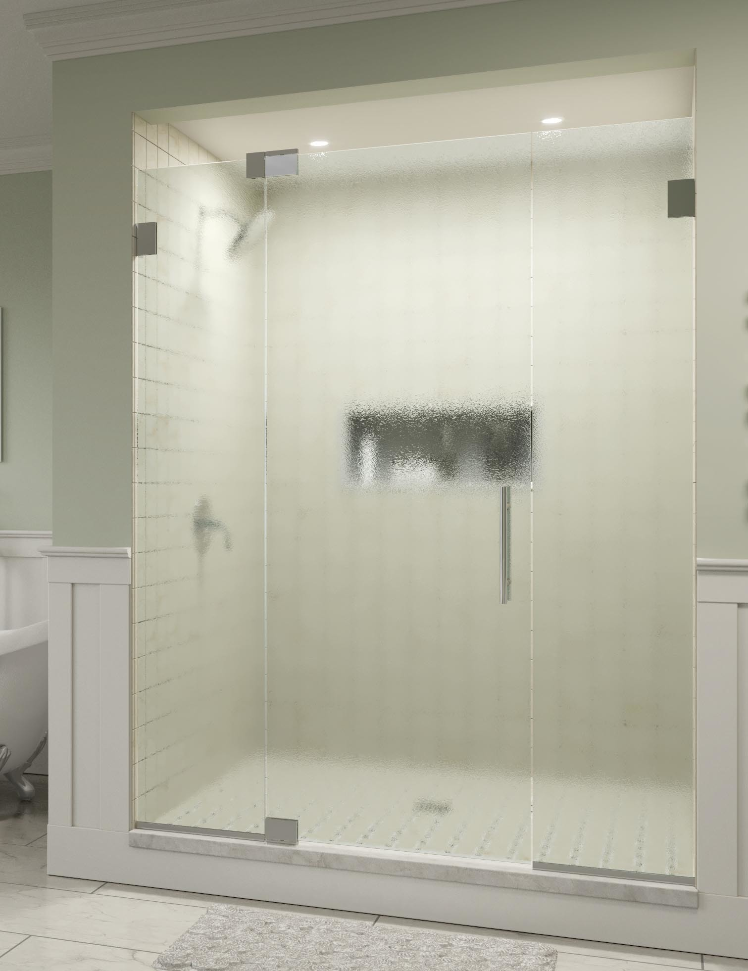 Dresden Frameless 3/8-inch Glass Panel Swing Door | Basco Shower Doors