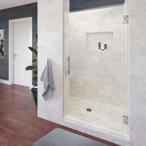 Dresden Frameless 3/8-inch Glass Swing Shower Door