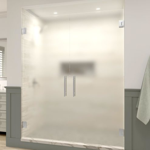 Dresden Frameless 3/8-inch Glass French Swing Shower Door