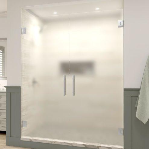 Dresden Frameless 3/8-inch Glass French Swing Shower Door