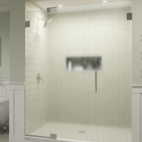 Dresden Frameless 3/8-inch Glass Panel Swing Door Panel Shower Door