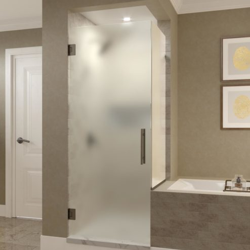 Dresden Frameless 3/8-inch Glass Swing Door & Return Panel Shower Door