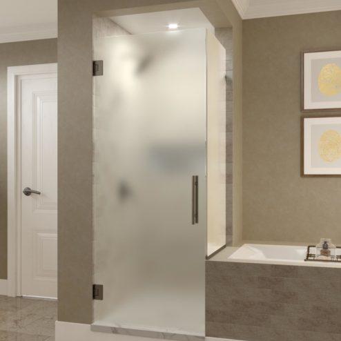 Dresden Frameless 3/8-inch Glass Swing Door & Return Panel Shower Door