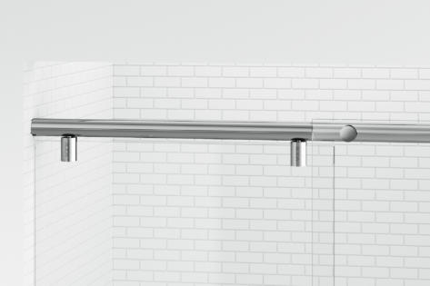 Evo Frameless 3 8 Inch Glass Panel Rolling Door Basco