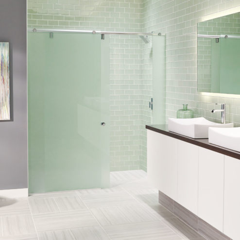 Evo Frameless 3/8-inch Glass Panel, Rolling Door, & Panel Shower Door
