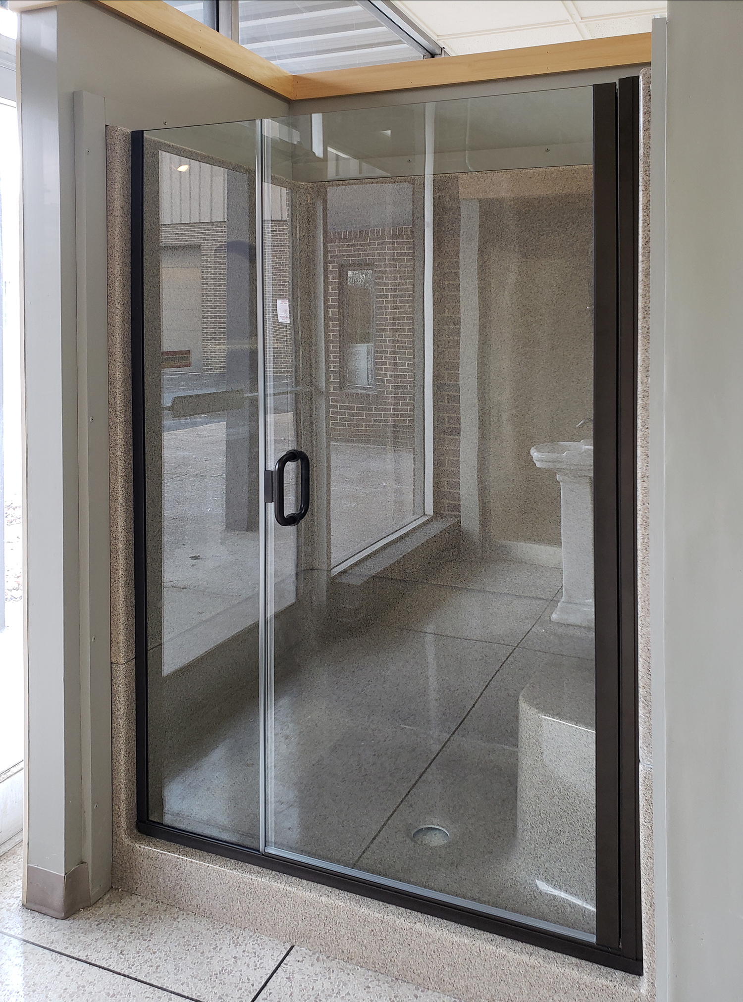 Fusion Semi Frameless 1 4 Inch Glass Swing Door Basco