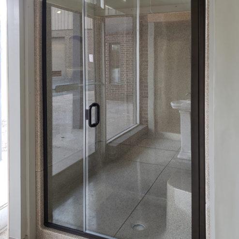Fusion Semi-Frameless 1/4-inch Glass Swing Door & 3/8-inch Panel