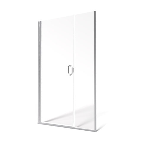Fusion Semi-Frameless 1/4-inch Glass Swing Door & 3/8-inch Panel Shower Door
