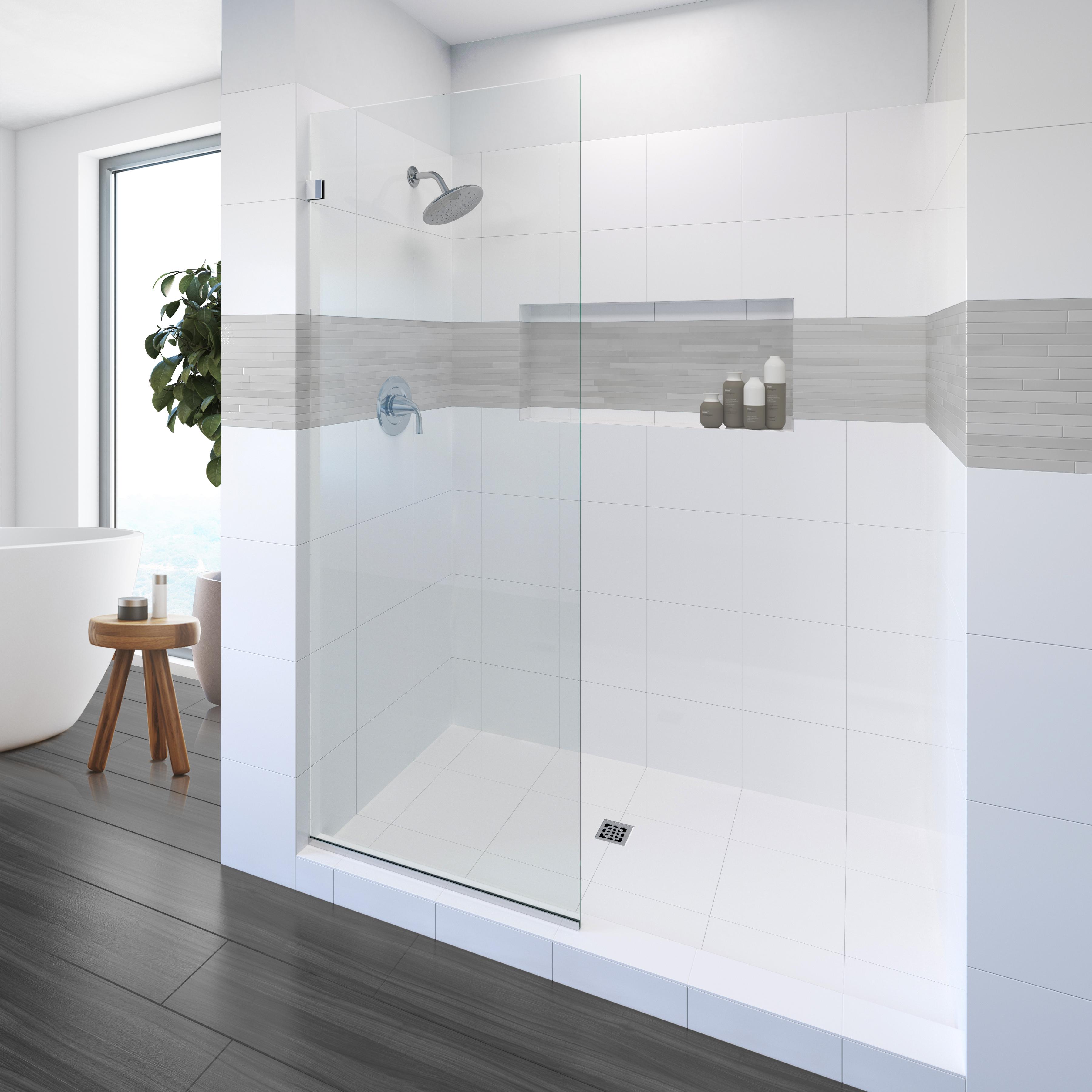 Geolux Frameless 3 8 Inch Glass Shower Screen Basco Shower Doors