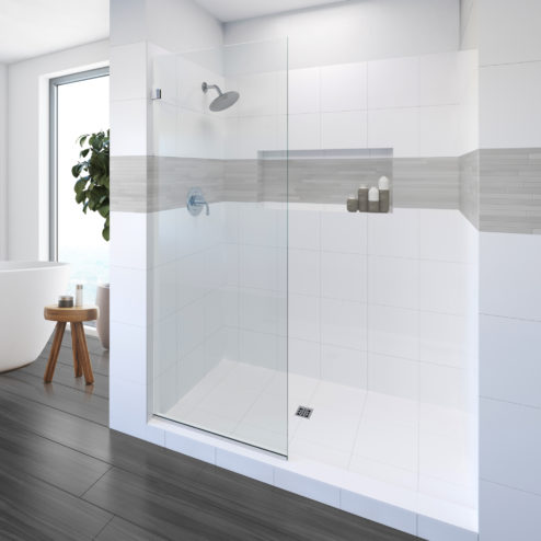 Geolux Frameless 3/8-inch Glass Shower Screen