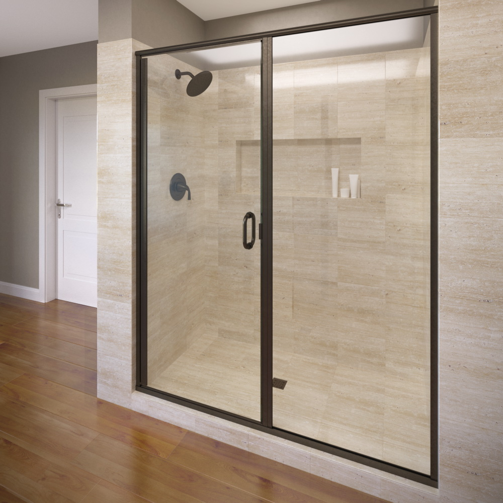 Infinity Semi Frameless 1 4 Inch Glass Swing Door Basco
