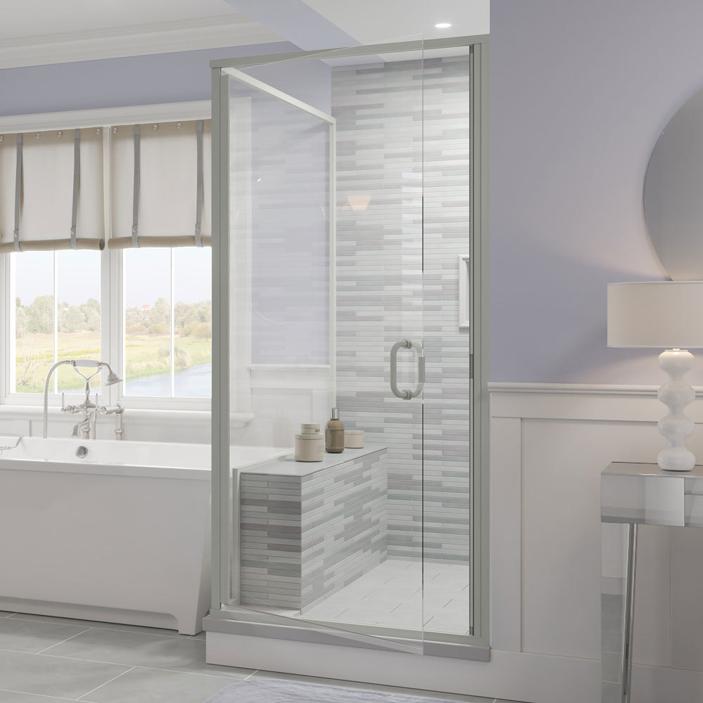 Infinity Semi Frameless 1 4 Inch Glass Swing Door Basco Shower Doors