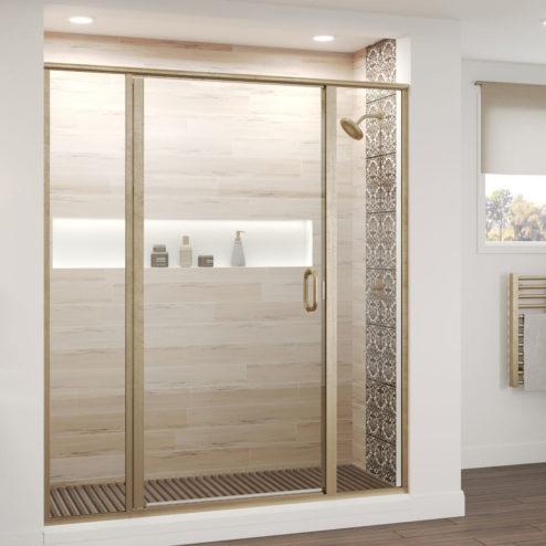 Deluxe Framed 3 16 Inch Glass Panel Swing Door Basco