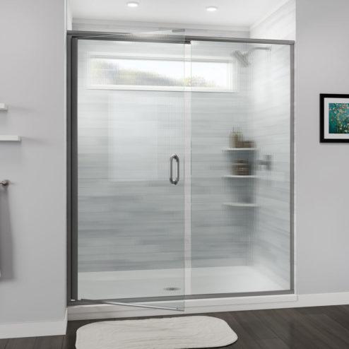Infinity Semi-Frameless 1/4-inch Glass Swing Door & Panel Shower Door