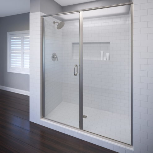 Infinity Semi-Frameless 1/4-inch Glass Swing Door & Panel Shower Door