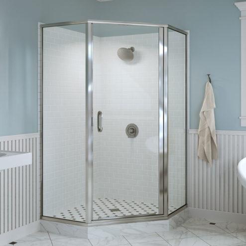 Infinity Semi-Frameless 1/4-inch Glass Neo Angle Swing Shower Door