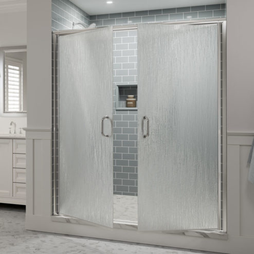 Infinity Semi-Frameless 1/4-inch Glass French Swing Shower Doors
