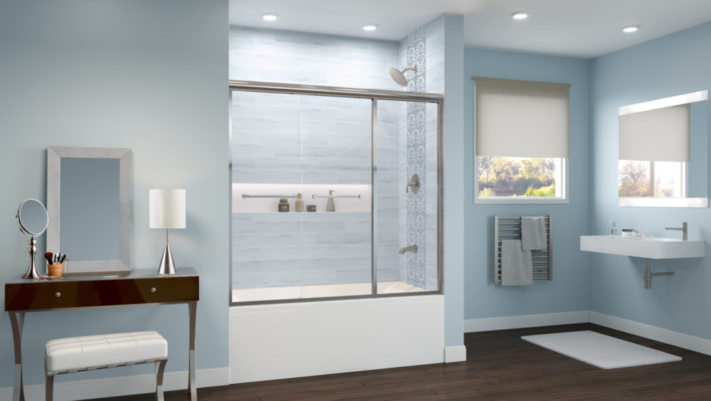 Infinity Sliding door with Panel Tub
