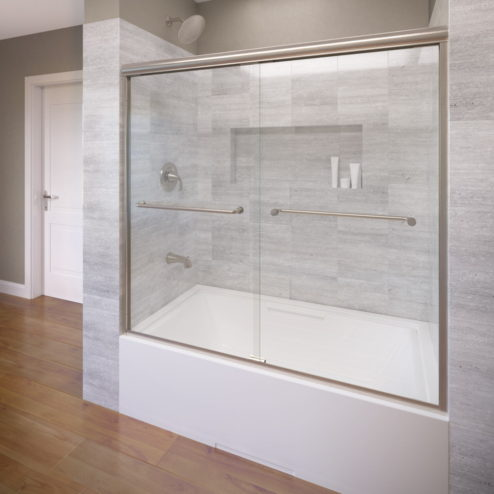 Infinity Semi-Frameless 1/4-inch Glass Sliding Bath Tub Door