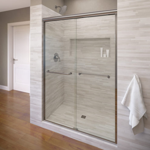 Rotolo Semi Frameless 14 Inch Glass Sliding Basco Shower Doors