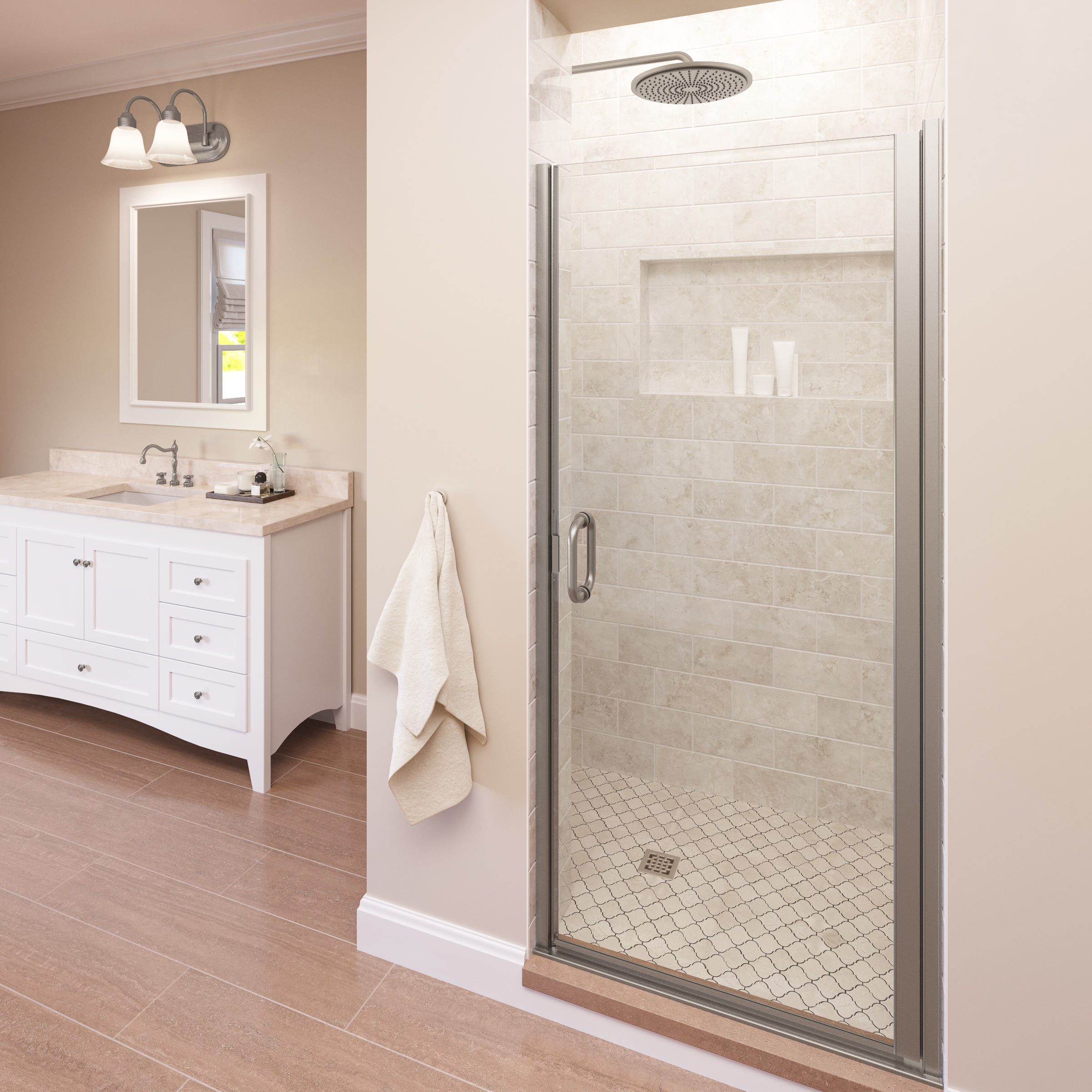Infinity Semi Frameless 14 Inch Glass Swing Basco Shower Doors