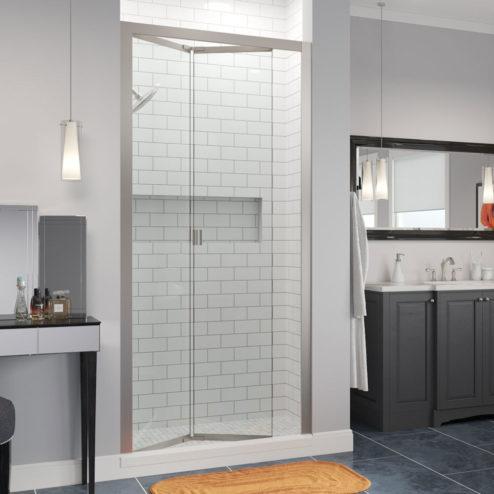 Infinity Semi-Frameless 1/4-inch Glass Bi-fold Shower Door