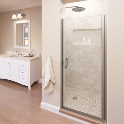 Infinity Semi-Frameless 1/4-inch Glass Swing Shower Door