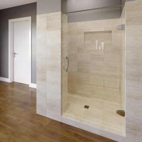 Preceria Frameless 5/16-inch Glass Swing Shower Door