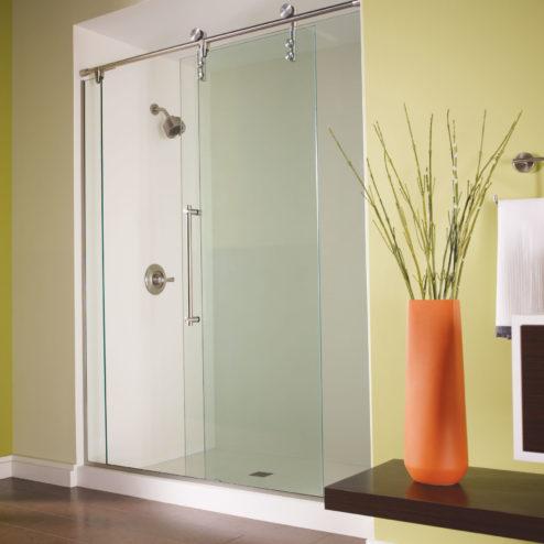Rolaire Frameless 3/8-inch Glass Panel, Rolling Door & Panel Shower Door
