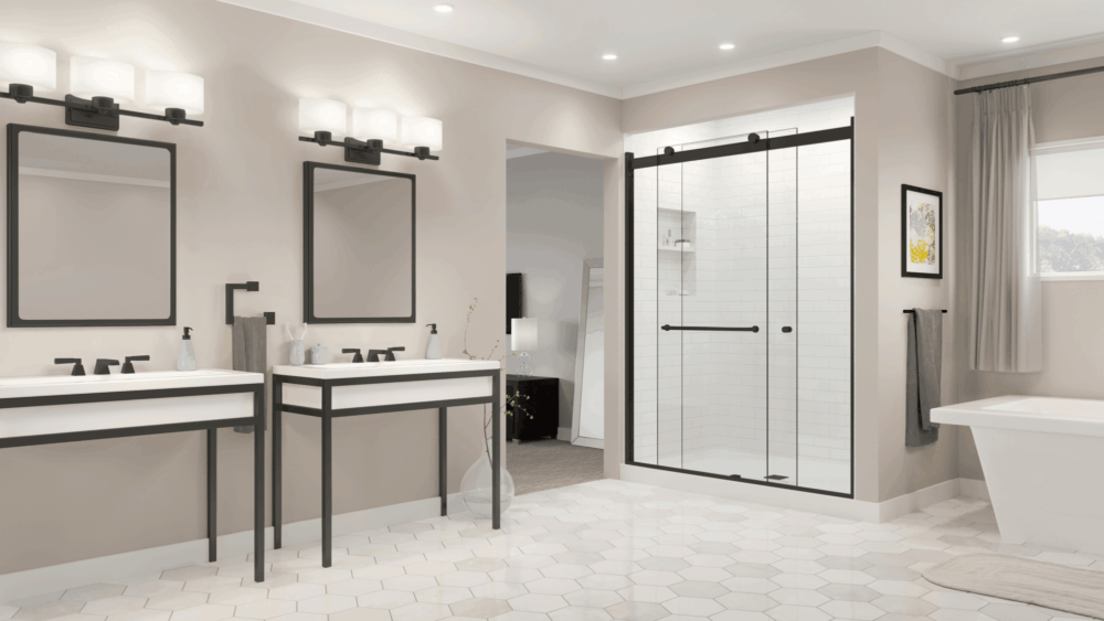 Rotolo Bypass Rolling Shower Door