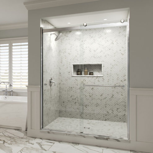 Rotolo Semi-Frameless 1/4-inch Glass Sliding Shower Door